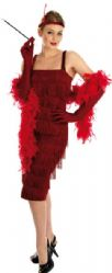 Roaring 20's Flapper Girl - Red (2399)